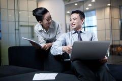 Asiatisches Geschäfts-Team Stockfoto