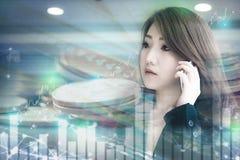 Asiatisches Geschäftsmädchen stockfotos