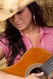 Asiatisches Gitarren-Mädchen Lizenzfreies Stockbild