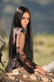 Asiatisches indonesisches Mädchen Stockbild
