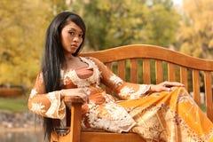 Asiatisches indonesisches Mädchen Lizenzfreie Stockfotos