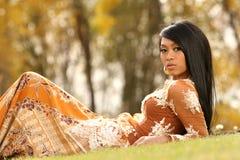 Asiatisches indonesisches Mädchen Lizenzfreies Stockfoto