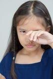 Asiatisches Kind traurig Lizenzfreies Stockbild