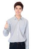 Asiatisches koreanisches Studioostporträt des jungen Mannes Lizenzfreies Stockfoto
