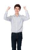 Asiatisches koreanisches Studioostporträt des jungen Mannes Stockbild