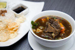 Asiatisches kulinarisches der Rindfleischochsenschwanzsuppe Lizenzfreie Stockbilder