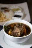 Asiatisches kulinarisches der Rindfleischochsenschwanzsuppe Stockbilder