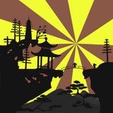 Asiatisches landscape1 Lizenzfreies Stockbild