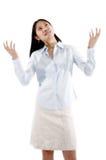 Asiatisches Mädchen-Ausfragen Lizenzfreie Stockbilder