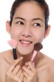 Asiatisches Mädchen der Schönheit bilden ihr Gesicht lizenzfreie stockfotos
