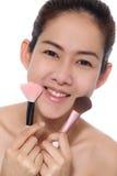 Asiatisches Mädchen der Schönheit bilden ihr Gesicht lizenzfreie stockbilder