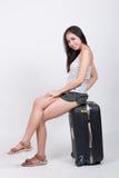 Asiatisches Mädchen im Reisekonzept Stockbilder