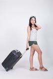 Asiatisches Mädchen im Reisekonzept Lizenzfreie Stockfotografie