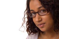 Asiatisches Mädchen mit Gläsern lizenzfreies stockbild