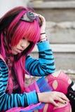 Asiatisches Mädchenabschlußportrait lizenzfreie stockfotos