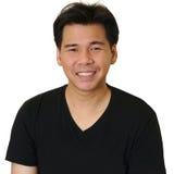 Asiatisches Mannlächeln Lizenzfreies Stockfoto