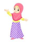 Asiatisches moslemisches Mädchen lizenzfreie stockfotografie