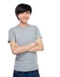 Asiatisches Porträt des jungen Mannes Stockfoto
