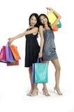 Asiatisches Schönheitseinkaufen lizenzfreies stockfoto