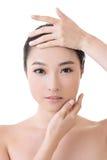 Asiatisches Schönheitsgesicht Stockbild