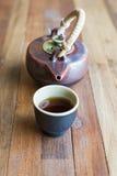Asiatisches Teeset Stockfotos