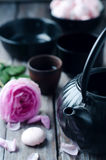 Asiatisches Teeset Stockbilder