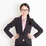 Asiatisches Wirtschaftlerporträt lizenzfreies stockfoto