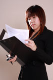 Asiatisk affärskvinna Royaltyfri Fotografi