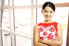 asiatisk affärskvinna Arkivfoto