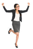 Asiatisk affärskvinna för full kropp Royaltyfria Bilder