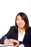 Asiatisk affärskvinnahandstil royaltyfri bild
