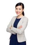 asiatisk affärskvinnastående Arkivfoto