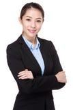 asiatisk affärskvinnastående Arkivfoton