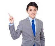 Asiatisk affärsman med handen för nummer ett Royaltyfri Fotografi