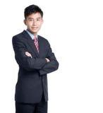 asiatisk affärsmankinesstående Arkivbild
