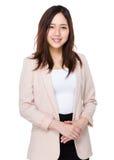 asiatisk affärskvinnastående Royaltyfria Foton