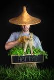 asiatisk arbeta i trädgården hattman Royaltyfria Bilder
