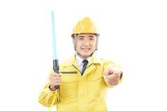 Asiatisk arbetare royaltyfria bilder