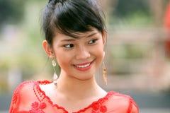 asiatisk attraktiv flicka arkivfoto