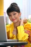 asiatisk attraktiv flicka arkivbilder