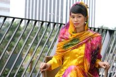 asiatisk attraktiv flicka royaltyfria foton
