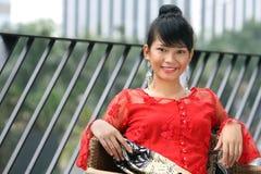 asiatisk attraktiv flicka royaltyfri foto