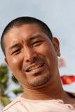 asiatisk attraktiv man Arkivfoto