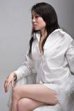 asiatisk attraktiv stolskvinna Royaltyfri Fotografi
