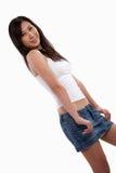 asiatisk attraktiv trendig twentieskvinna Arkivbilder