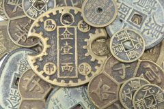 asiatisk bakgrundsvaluta Arkivbild