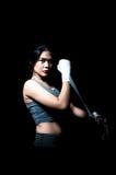 asiatisk boxarekvinnlig Arkivfoto