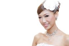 asiatisk brud Fotografering för Bildbyråer