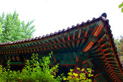 Asiatisk byggnadsdetalj Royaltyfri Foto