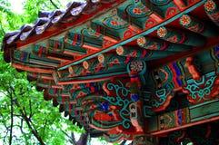 Asiatisk byggnadsdetalj Arkivbild